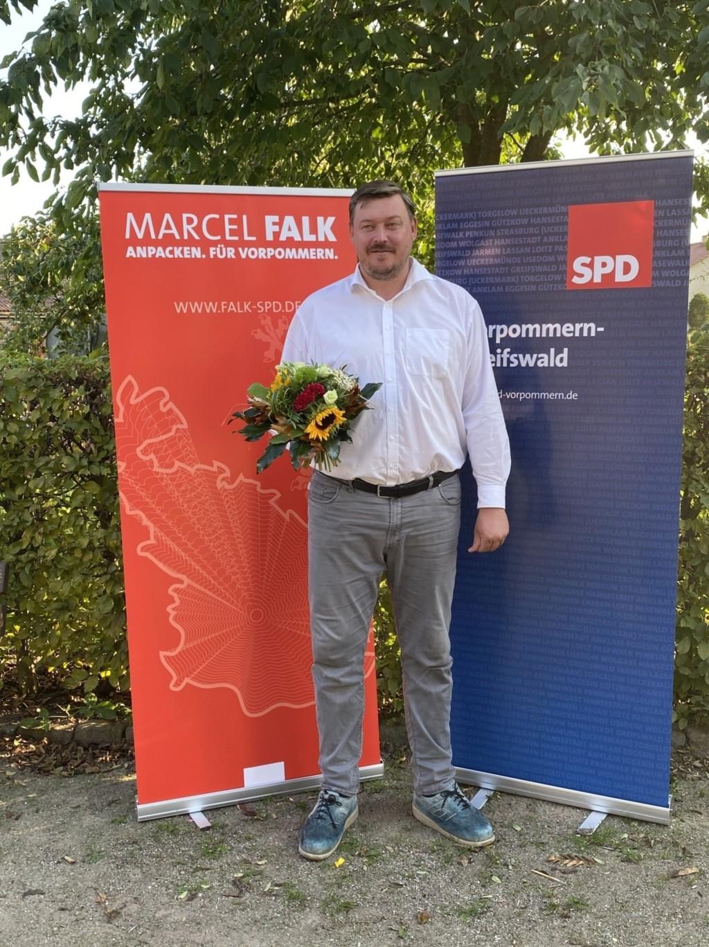 Marcel Falk nach seiner Nominierung zum Landtagskandidaten