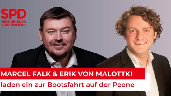 Marcel Falk & Erik von Malottki laden ein zur Bootsfahrt auf der Peene