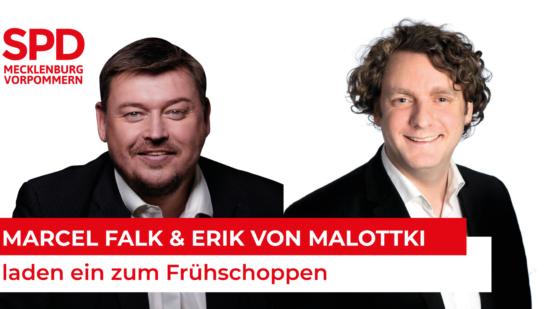 Marcel Falk und Erik von Malottki laden ein zum Frühschoppen