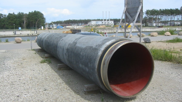 Rohre der Pipeline Nord Stream in Lubmin